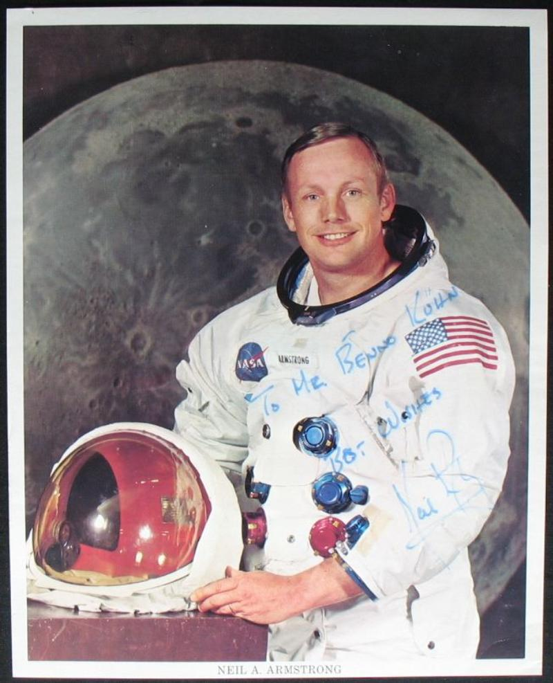 s330 raumfahrt space apollo 11 originalautogramm photo signed neil armstrong ebay. Black Bedroom Furniture Sets. Home Design Ideas