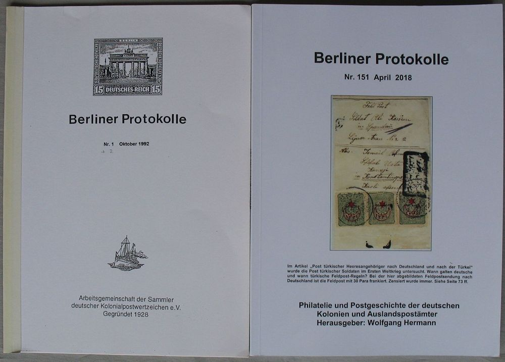 S2019 German Colonies And Post Offices Abroad Berlin Protocols No